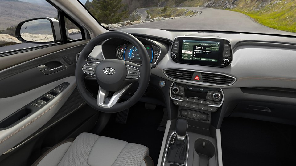 360 Interior Image of the 2020 SANTA FE in Espresso with Gray