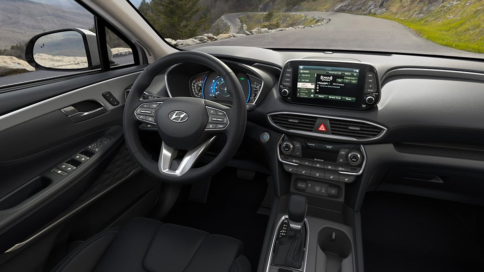 360 Interior Image of the 2020 SANTA FE Limited in Black