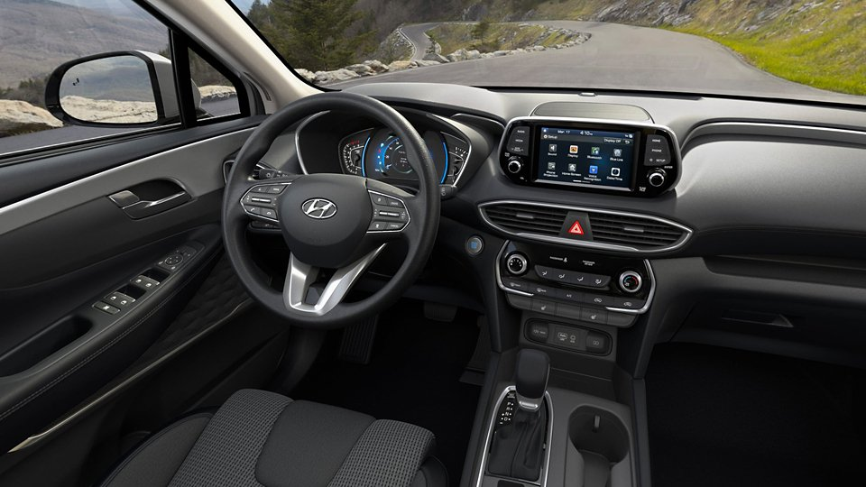 360 Interior Image of the 2020 SANTA FE SEL in Black