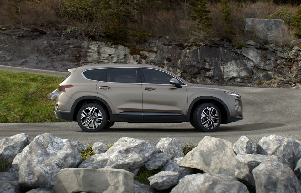 360 Exterior Image of the 2020 SANTA FE in Earthy Bronze