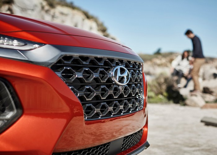 2020 Hyundai Santa Fe in Orange