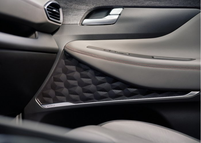 2020 Hyundai Santa Fe Espresso Leather interior