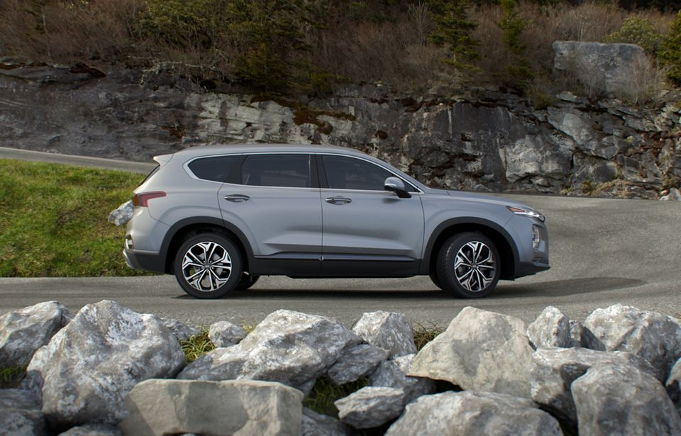 360 Exterior Image of the 2020 SANTA FE in Shimmering Silver Pearl