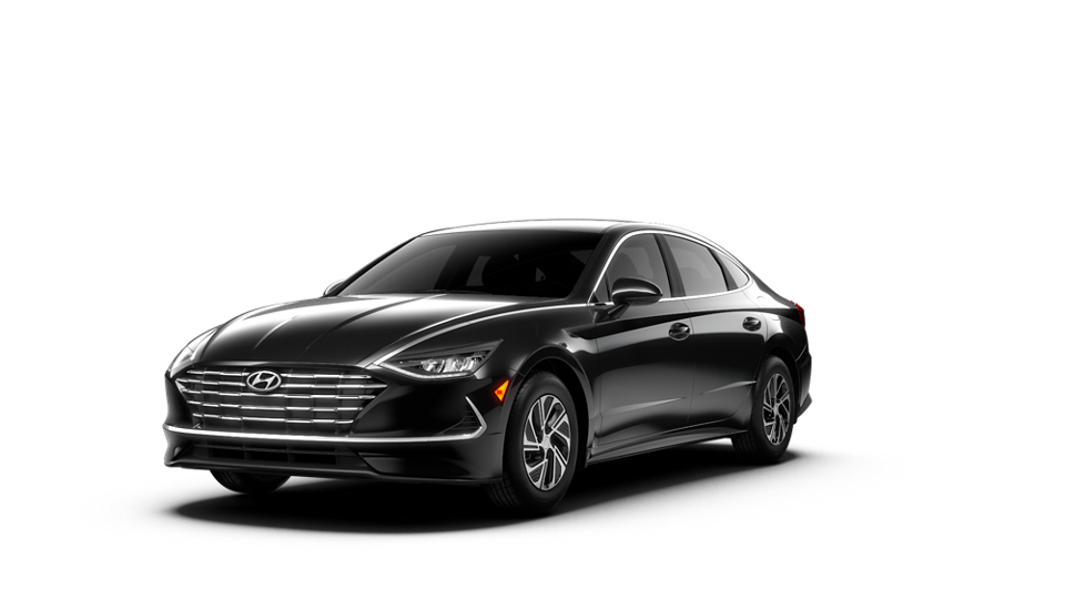 360 Exterior Image of the 2020 SONATA Hybrid Blue in Nocturne Black