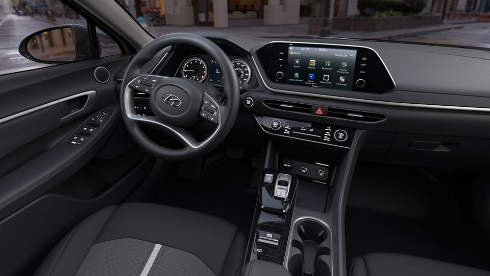 360 Interior Image of the 2021 SONATA SEL in Black