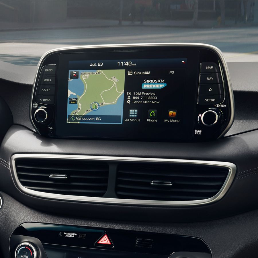 2020 Hyundai Tucson touchscreen with navigation
