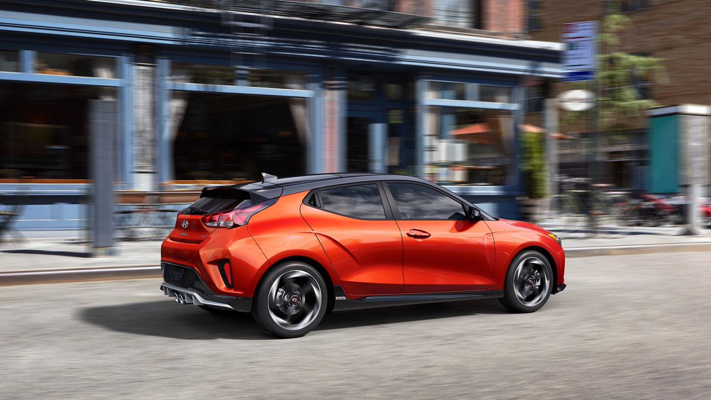 Hyundai Veloster 2020 en color Orange