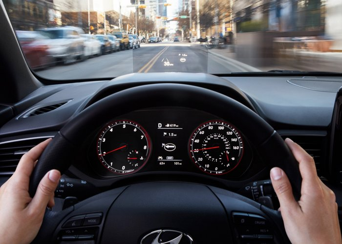 2020 Hyundai Veloster Turbo Ultimate head's up display