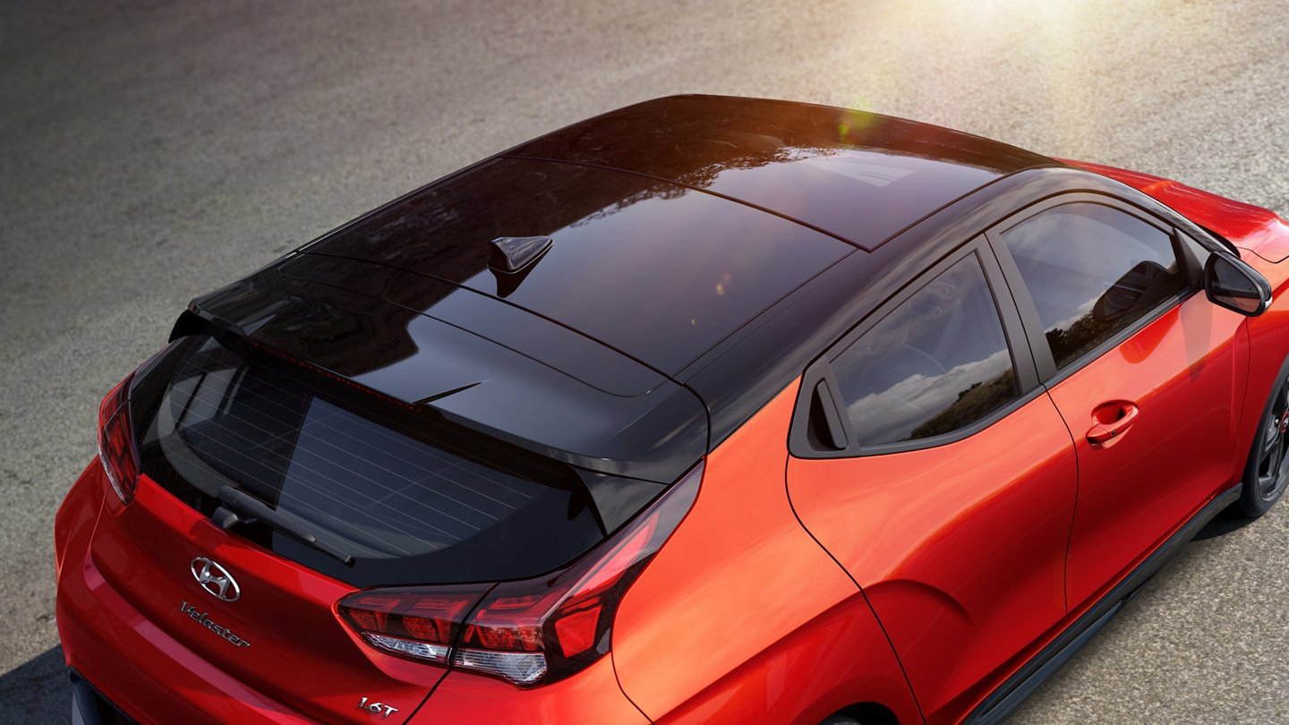2020 Hyundai Veloster Turbo Ultimate roof