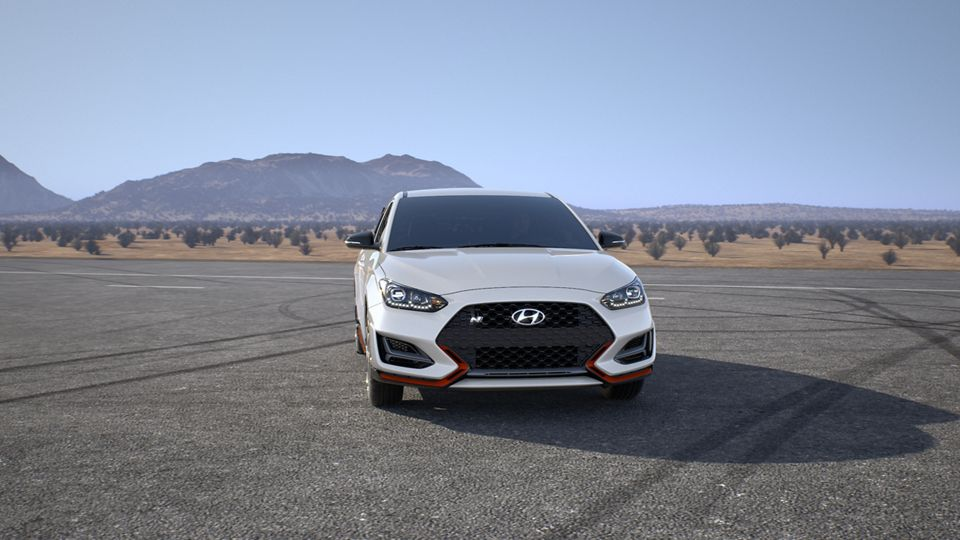 360 Exterior Image of the 2020 VELOSTER N in Chalk White