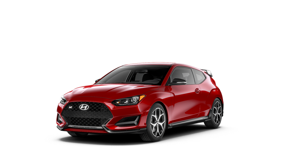 360 Exterior Image of the 2020 VELOSTER N Veloster N in Racing Red