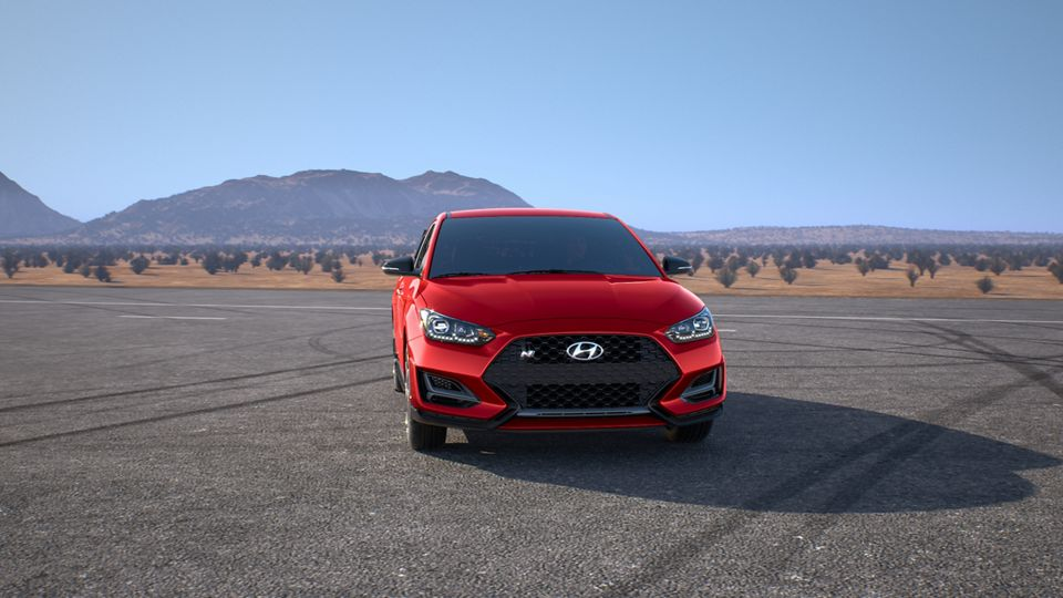 360 Exterior Image of the 2020 VELOSTER N in Racing Red