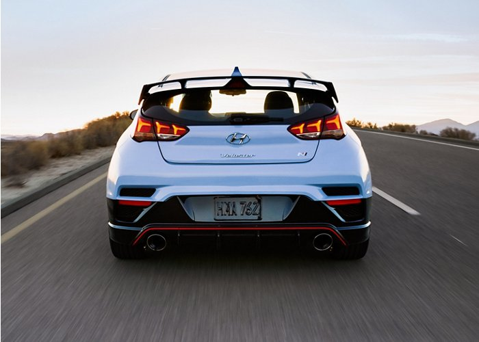 2020 Hyundai Veloster N rear view
