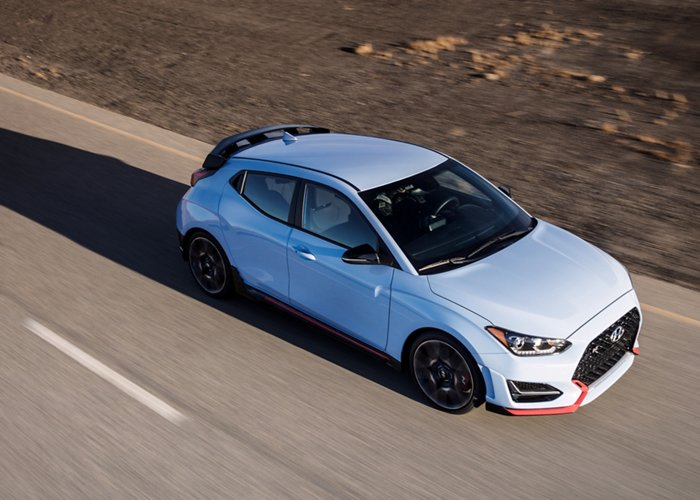 2020  Veloster N in Performance Blue