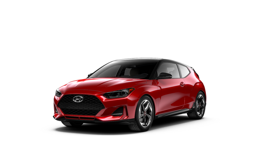 Imagen en 360° del exterior del VELOSTER Turbo Ultimate 2020 en Racing Red