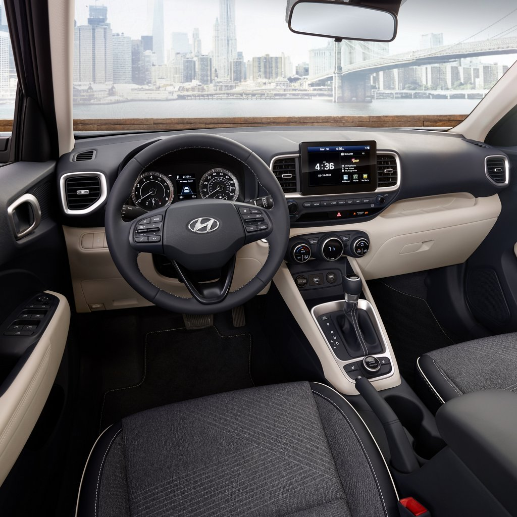 2020 Hyundai Venue Denim Interior Denim/Leatherette Combo