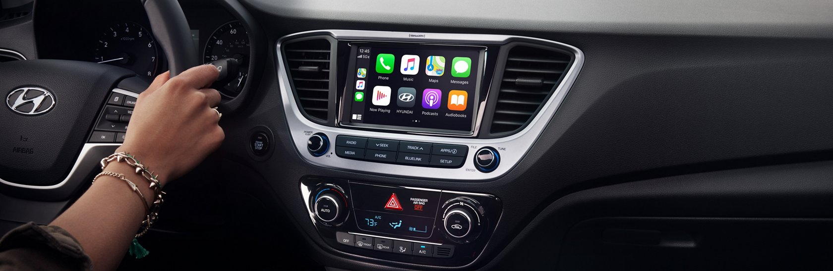 2021 Hyundai Accent Apple CarPlay and Android Auto