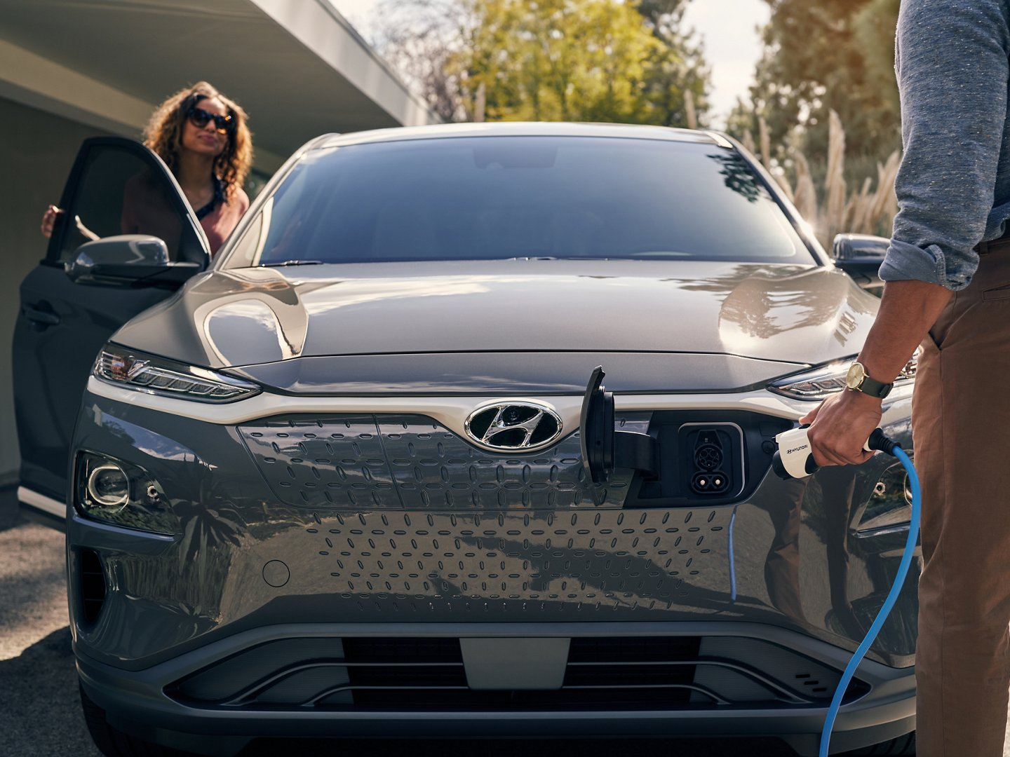 2021 Hyundai Kona Electric being charged