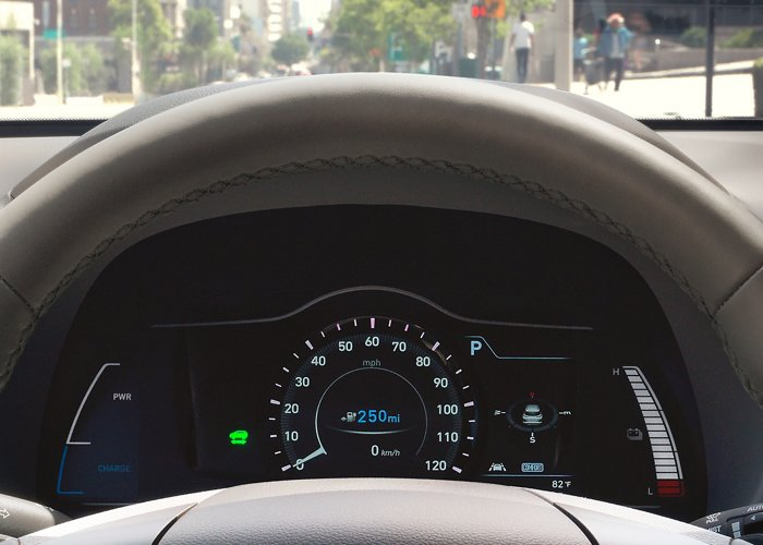 2021 Hyundai Kona Electric Limited LCD Gauge Cluster