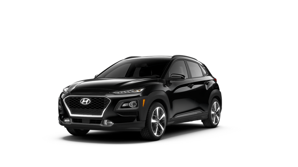 360 Exterior Image of the 2021 KONA Limited in Ultra Black