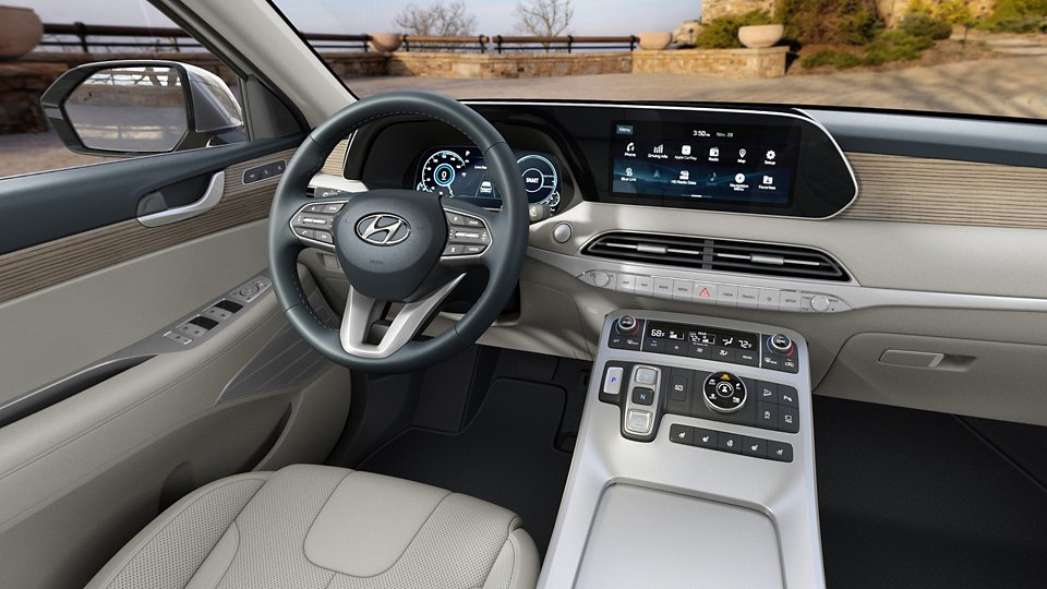 360 Interior Image of the 2021 PALISADE Limited in Beige Nappa Leather