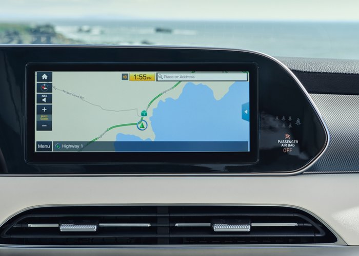 2021 Hyundai Palisade Limited touchscreen navigation