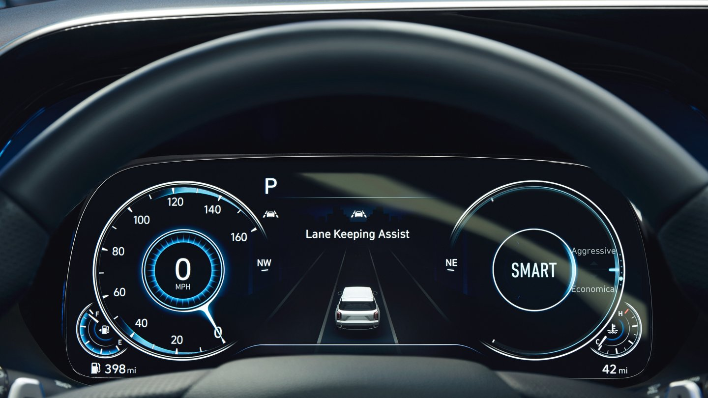 2021 Hyundai Palisade Limited digital gauge cluster