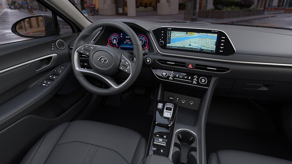 360 Interior Image of the 2021 SONATA Limited in Black