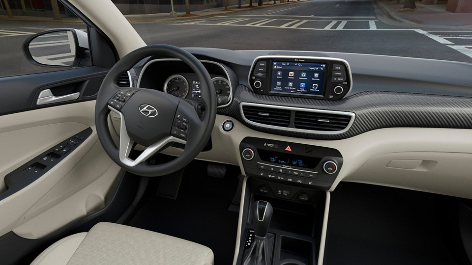 360 Interior Image of the 2021 TUCSON SEL in Beige