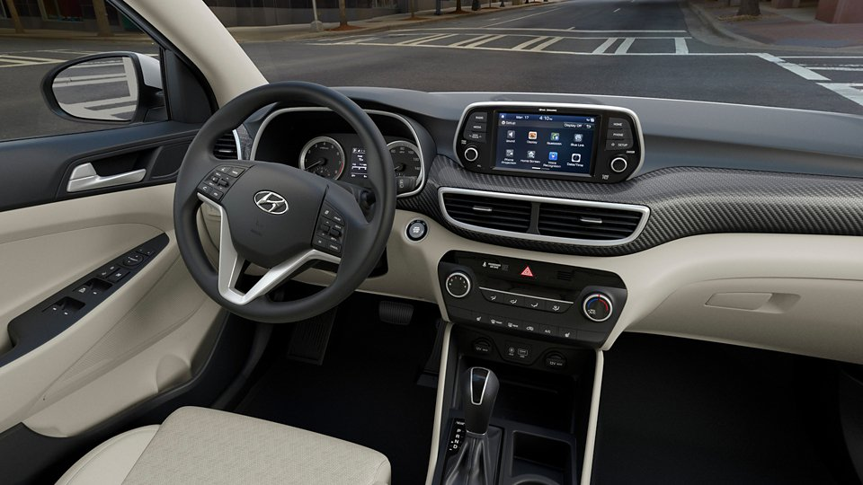 360 Interior Image of the 2021 TUCSON Value in Beige