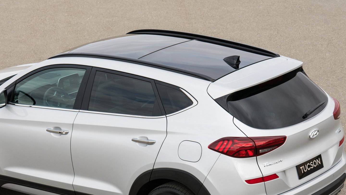 2021 Hyundai Tucson Limited roof side rails