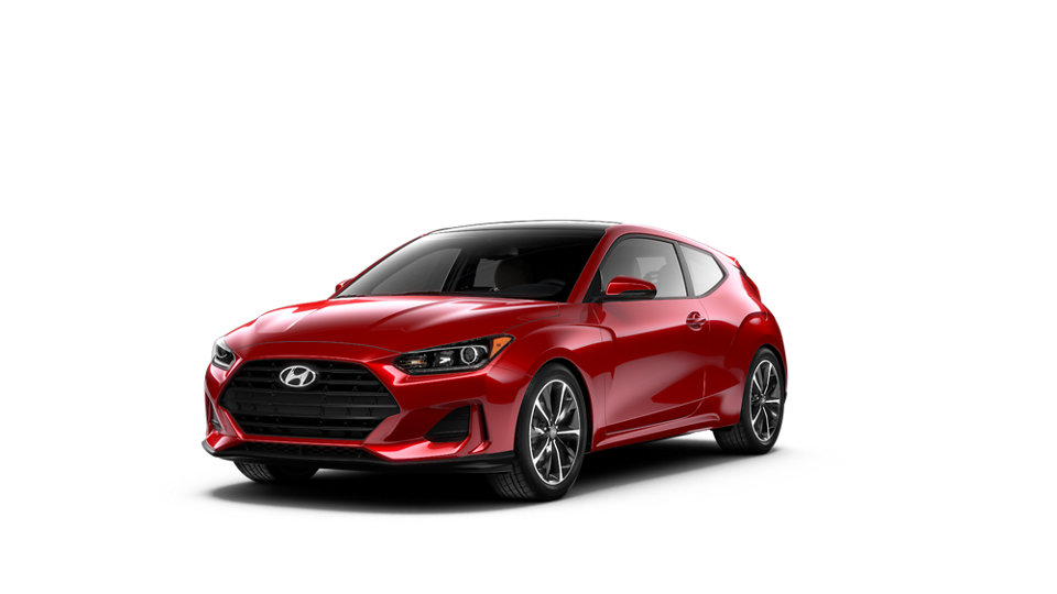 360 Exterior Image of the 2021 VELOSTER 2.0 Premium in Racing Red
