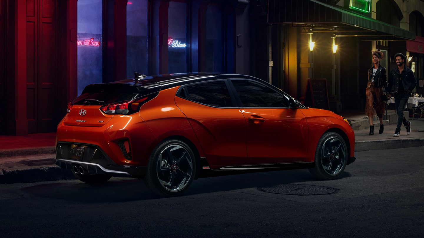 2021 Veloster Turbo from Hyundai in Sunset Orange