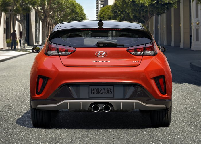 2021 Veloster Turbo rear view