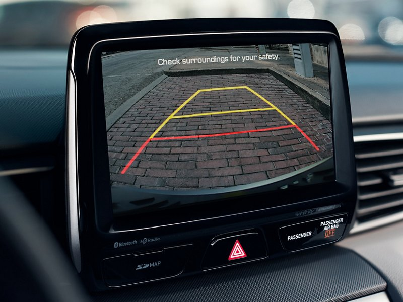 2021 Veloster rear view monitor