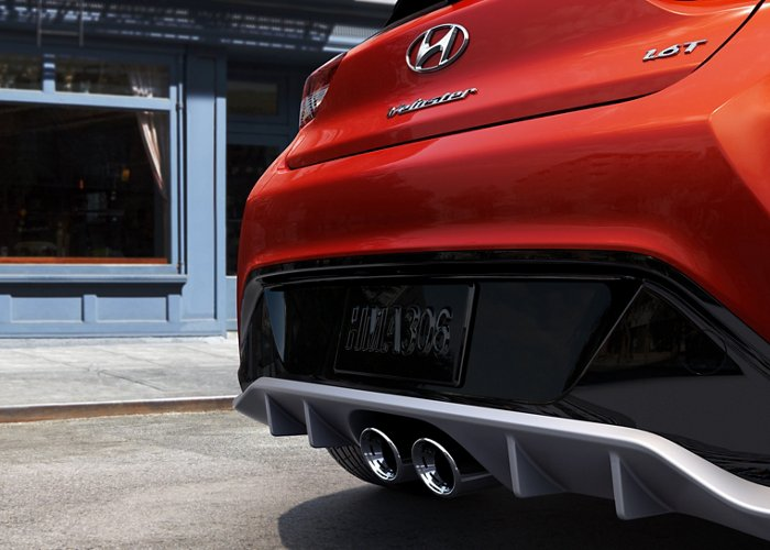 2021 Hyundai Veloster Turbo R-Spec Dual Mounted exhaust tips