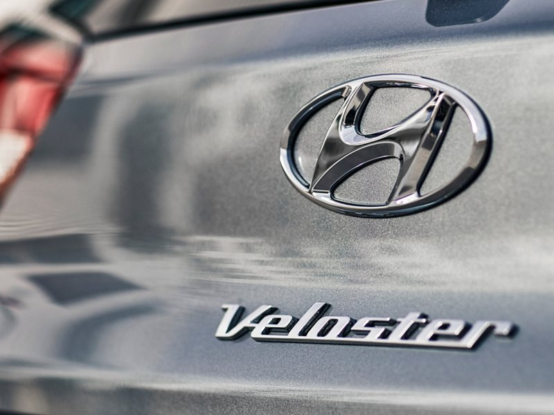 2021 Hyundai Veloster name badge and logo