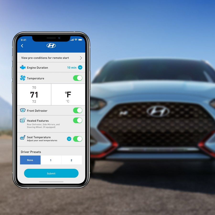 2021 Hyundai Veloster N Blue Link Connected Car System