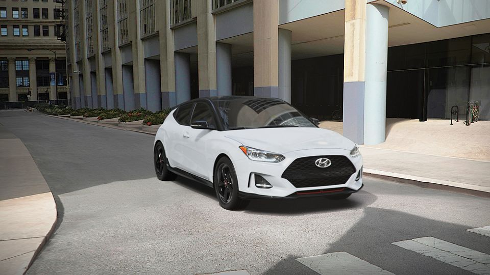 360 Exterior Image of the 2021 VELOSTER in Chalk White