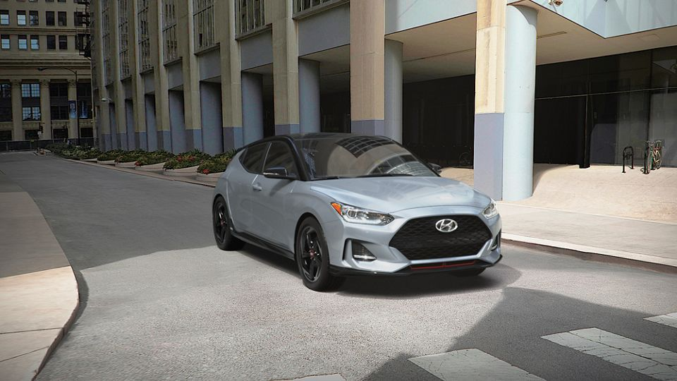 360 Exterior Image of the 2021 VELOSTER in Sonic Silver