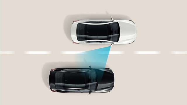 blind spot collision warning diagram