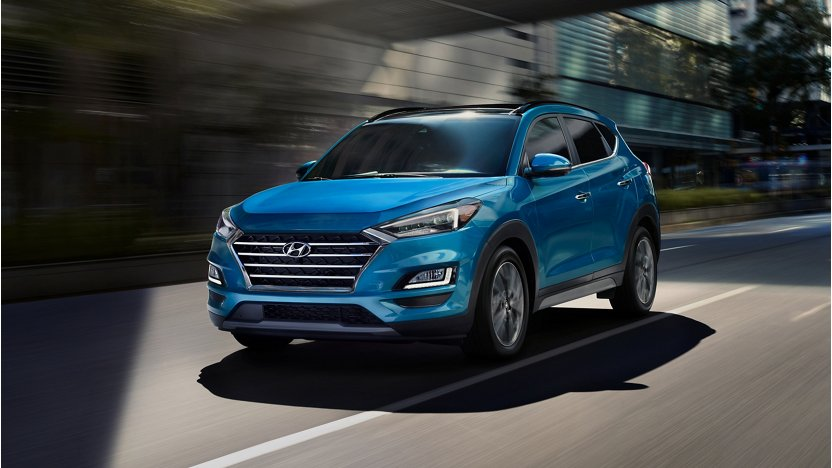 2019 Hyundai Tucson in Aqua Blue