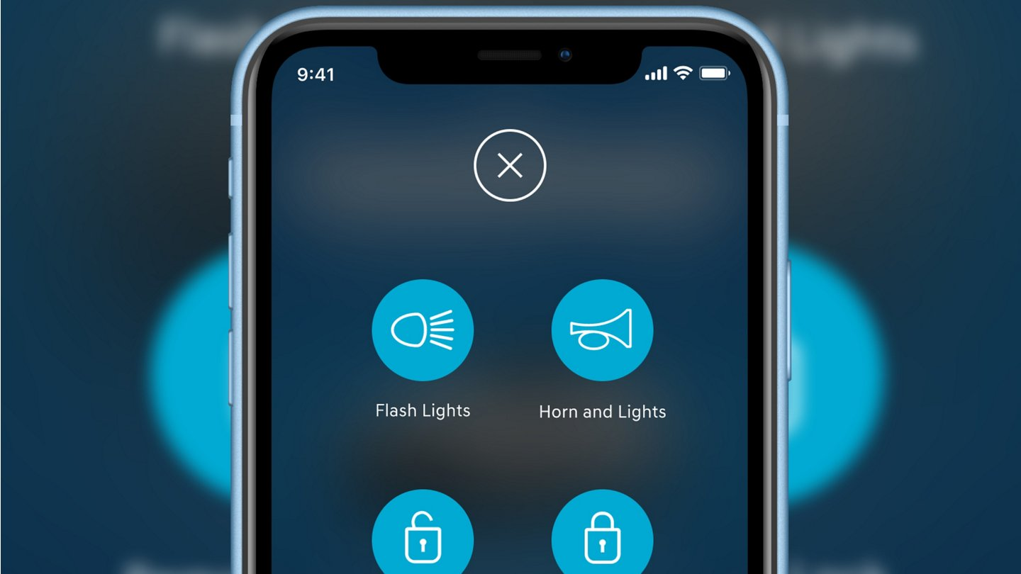 blue link connected  phone screen
