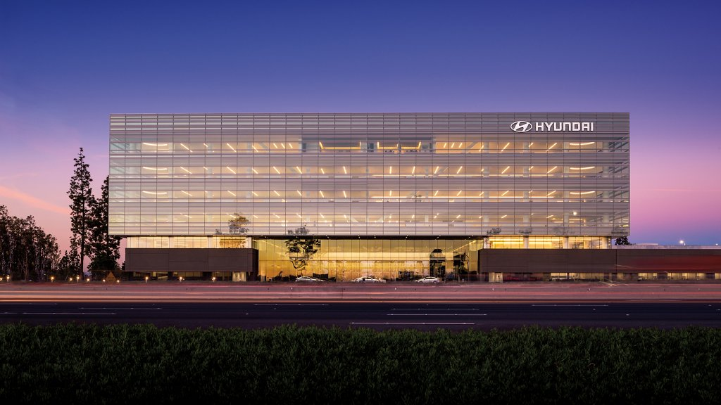 Hyundai national headquarters in Fountain Valley, California