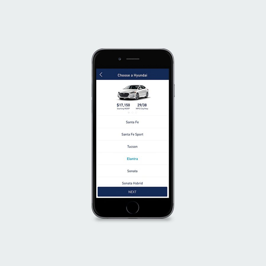 Hyundai Drive App on phone