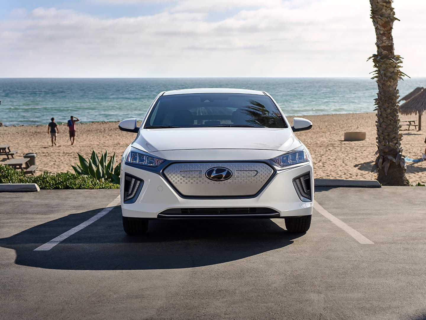 2020 Ioniq Electric at beach