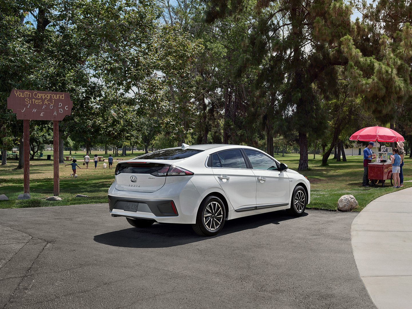 2020 Ioniq Electric at beach at park