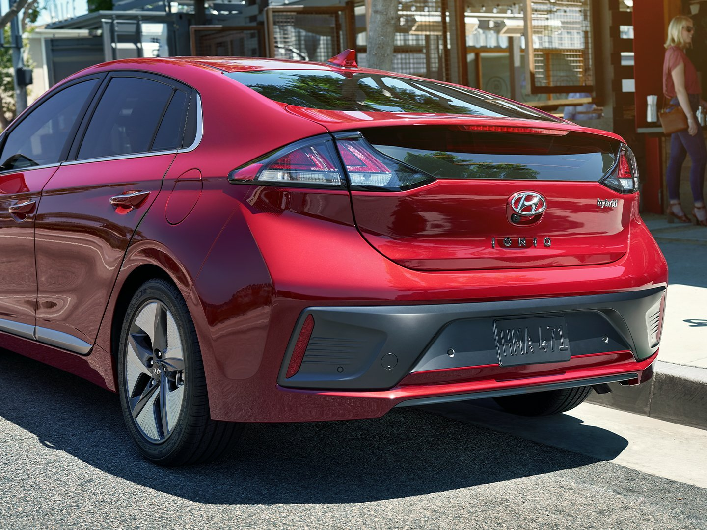 2020 Ioniq Hybrid rear view