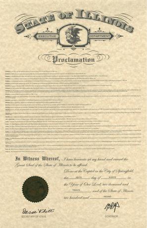 image of proclamation
