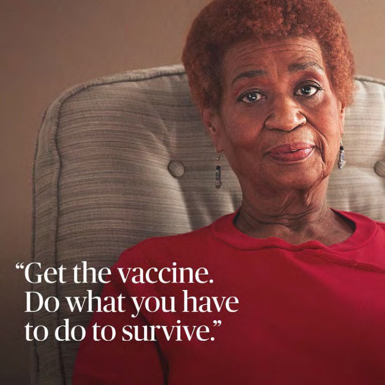 """Bonnie Blue """"Get the vaccine. Do what you have to do to survive."""""""
